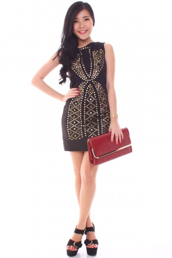 Versace-Inspired Studded Dress