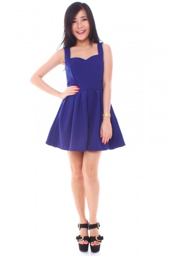 Textured Sweetheart Skater Dress
