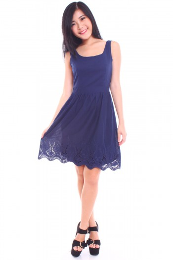 Embroidered Hem Dress