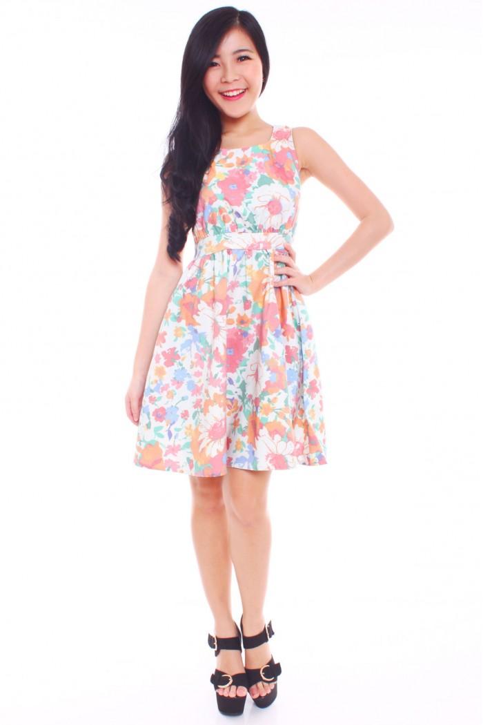 99146863c6fe Pastel Floral Skater Dress - The Label Junkie