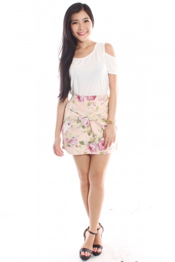 Floral High Waist Tulip Skirt