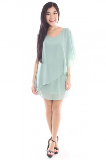 Asymmetric Chiffon Dress