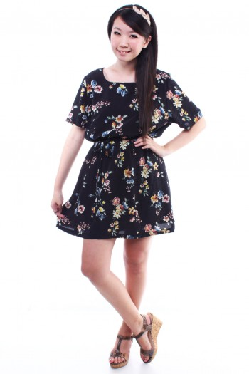 Vintage - Mulitcolour Floral Dress