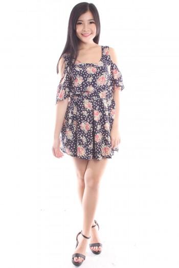 2-Pc Slit Sleeves Dress