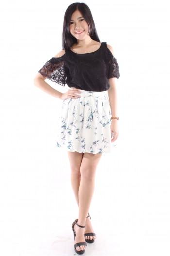 Sparrow Print Skirt