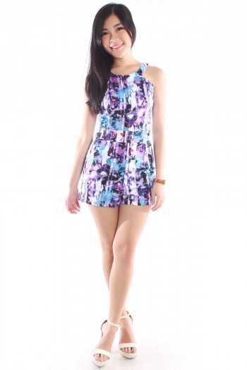 Cut-In Abstract Romper