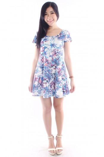 Tropic Floral Skater Dress