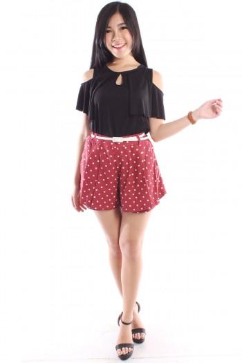 Polka Dot High Waist Shorts