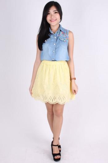 Crochet Embroidered Skirt