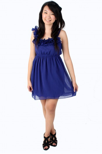 Chiffon Ruffled Toga dress
