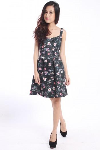 Sweetheart Floral Bustier Dress