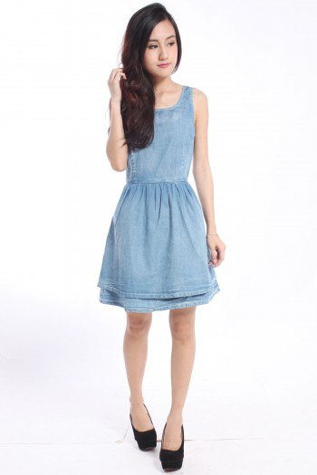 Topshop Inspired Denim Skater Dress