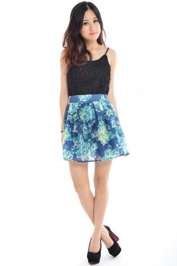 Floral Zip Skirt