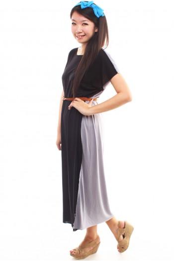 Two-tone Maxi Dress