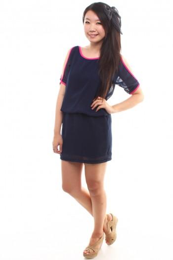 Shoulder Cut-Out Dress