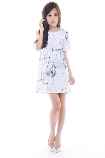Marble Shift Dress