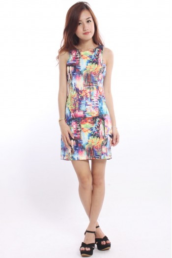 Abstract Painting Shift Dress