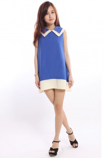 Sharp Collar Shift Dress