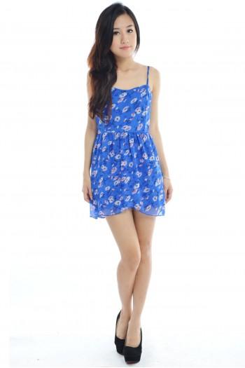 Chiffon Floral Dress Romper