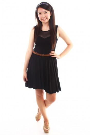 Mesh M-Shaped Dress