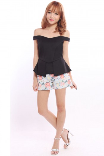 *Premium* Off Shoulder Peplum Top