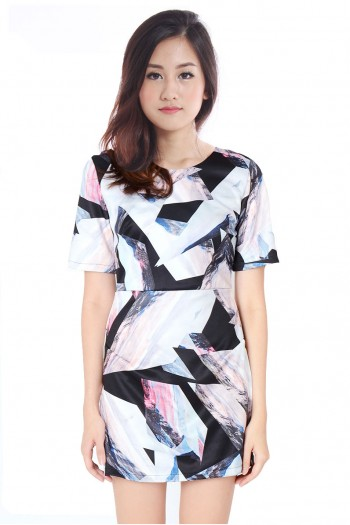 Prism Abstract Shift Dress