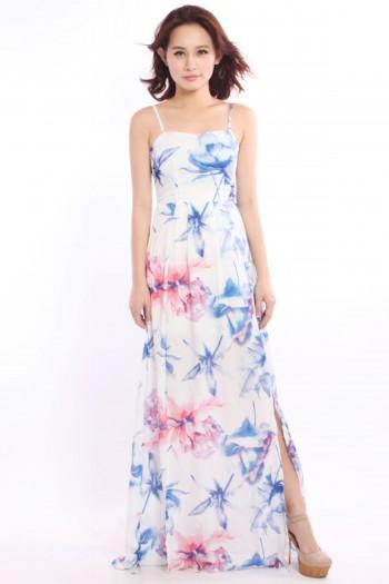 *Premium* Floral Slit Maxi Dress