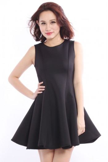 Neoprene Flare Skater Dress