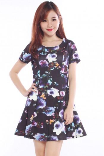 Floral Flare Skater Dress
