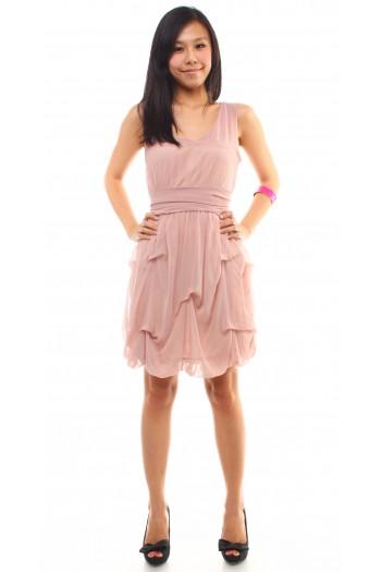 Chiffon Draped Dress