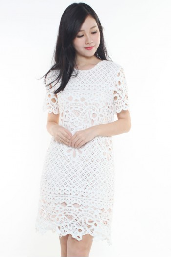 *Premium* Crochet Shift Dress
