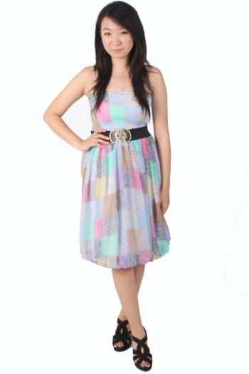 Patchwork Tube Dress