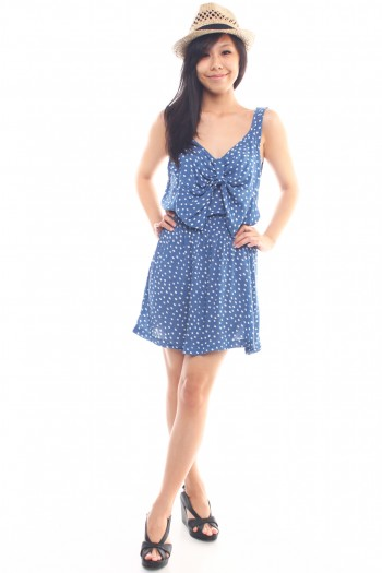 Polkadot Bow Bib Dress