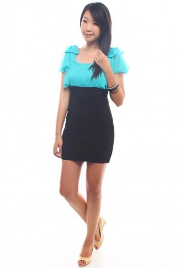 Bow Fluttersleeves Dress