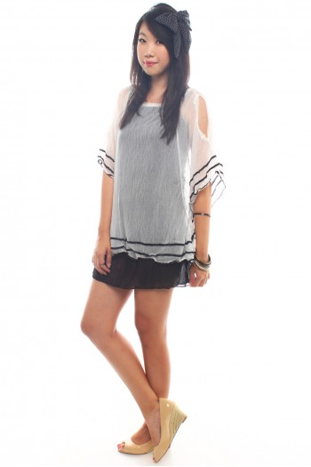 Cut-Out Kaftan Overlay Tunic