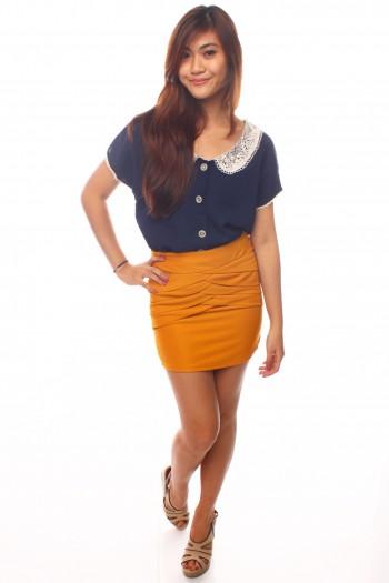 Pleated Bandage Skirt