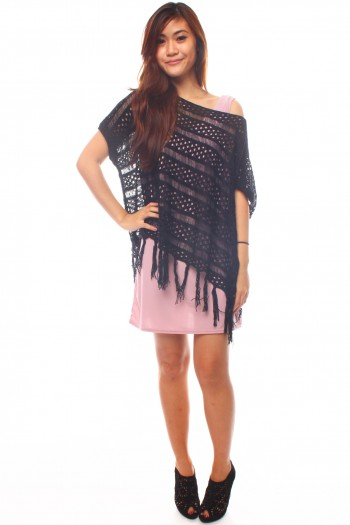 Fringe Knit Throwover