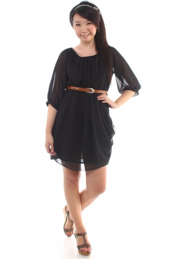 Drapey Chiffon Dress