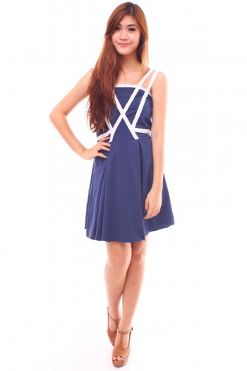 Criss Cross Strapped Dress