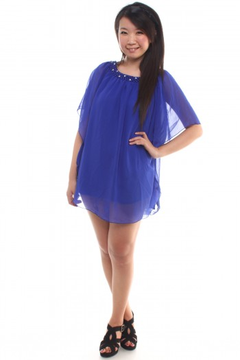 Pearl Flutter Sleeves Tunic