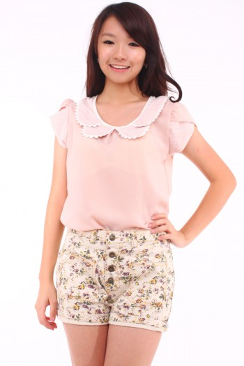 Lace Petal Bib Top