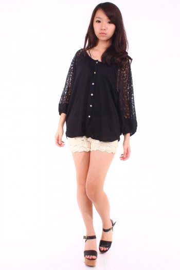 Lace Sleeves Shirt