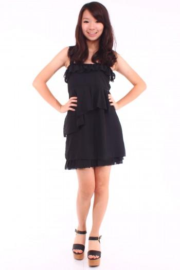 Asymmetric Peplum Dress