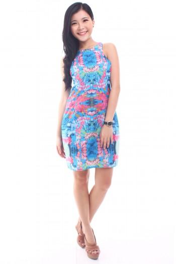 Floral Cut-in Dress