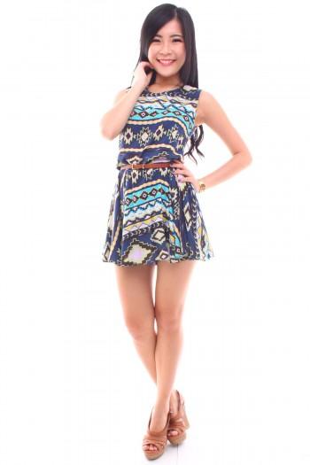 Aztec Skirt Romper