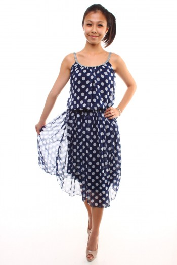 Polkadot Mid-length Dress