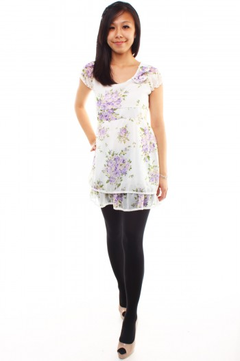 Floral Tier Tunic