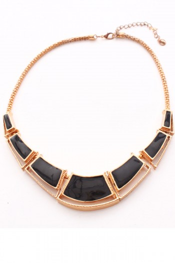 Black and Gold Angular Necklace